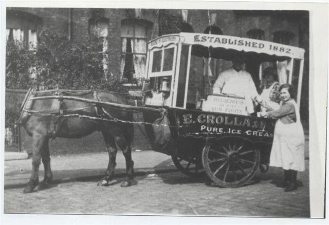 Vittorio´s brother Eugenio Crolla's Ice Cream Cart