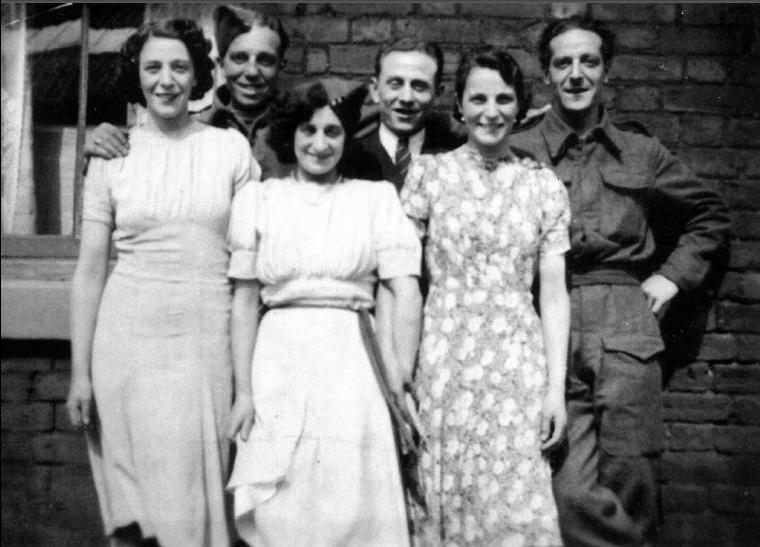 Mary Panetta, Gus Panetta, cousin Philimina Colletta, Angelo Iafrati, Rosie Iafrati[nee Panetta],Louie Panetta